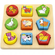 Shape Block Puzzle - Animals